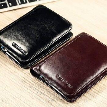 Fashion Short Genuine Leather Men's Wallet