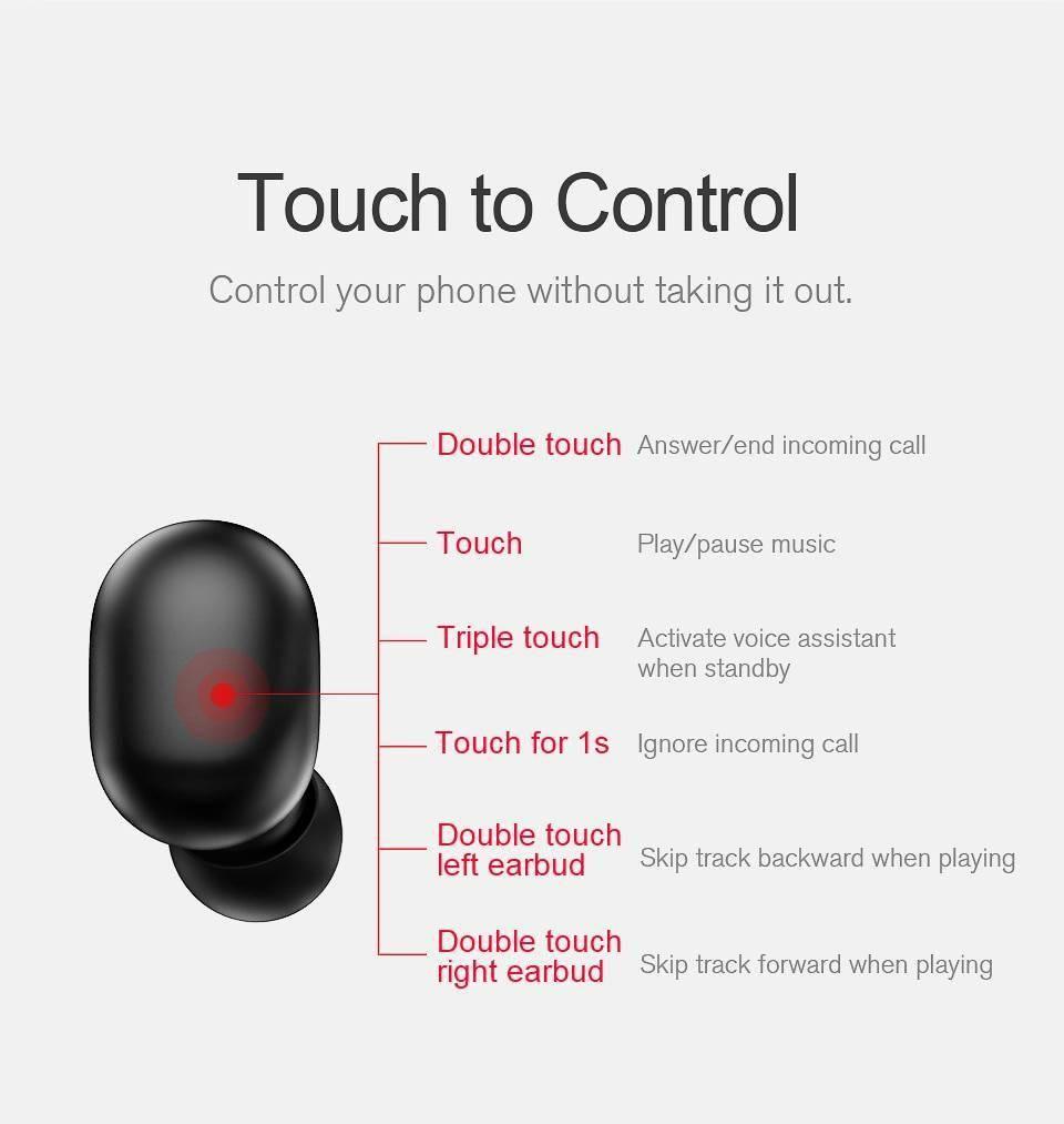 Fingerprint Touch Bluetooth Stereo Earphones