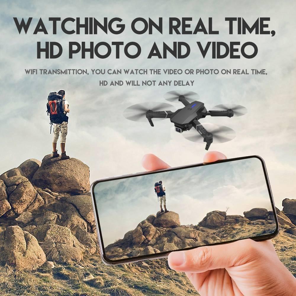 LSRC 2021 new Quadcopter drone E525 HD 4K 1080P camera and WiFi