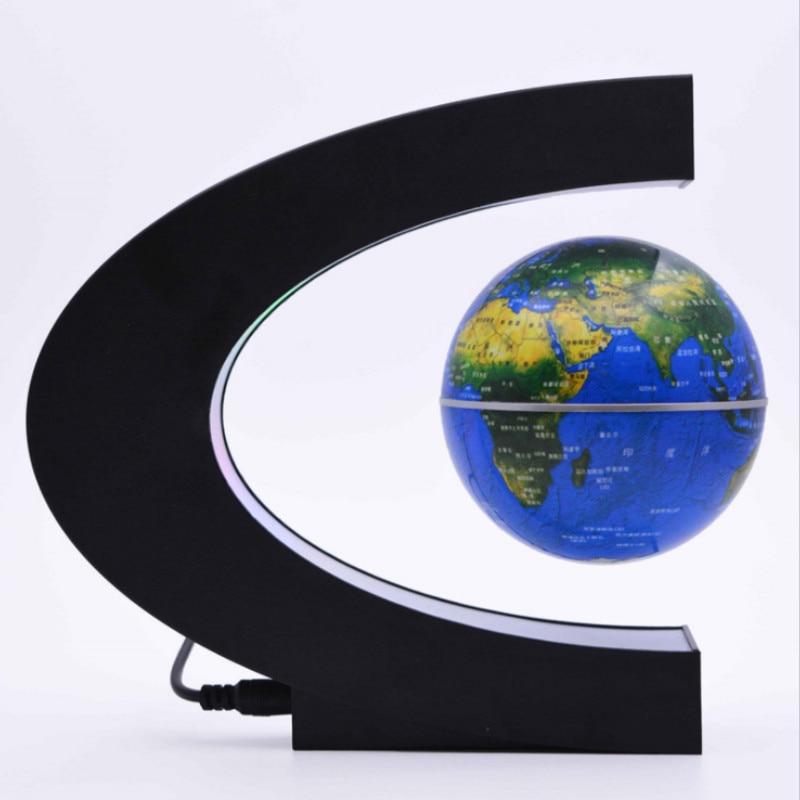 Magnetic Levitation Globe LED Night Light Novelty Floating