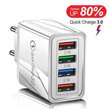 USB Charger Quick Charge 3.0 4 Ports