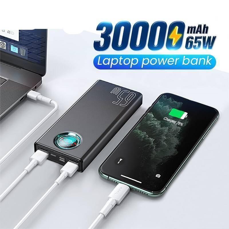 65W 30000mAh USB C Quick Charge External Battery