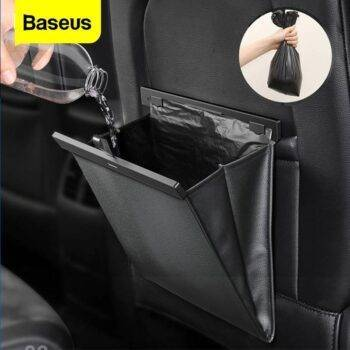 Baseus Car Organizer Backseat Storage Bag Magnetic Auto Pocket Holder Car Accessories Car Trash Bin Garbage Can Dustbin Car Bag