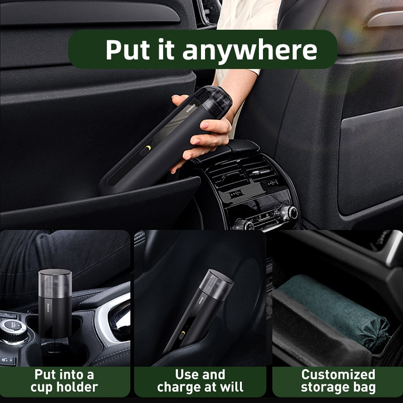 Portable Car Vacuum Cleaner Wireless 5000Pa Rechargeable