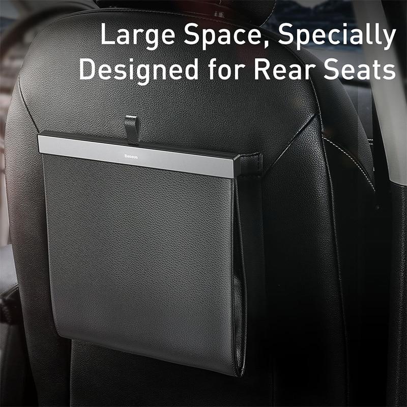 Car Backseat Storage Bag Magnetic Auto Pocket